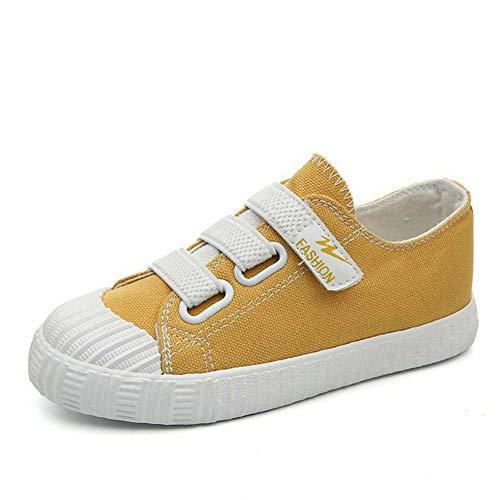 Kinder Shell Head Canvas Schuhe mit Klettverschluss Jungen Mädchen Atmungsaktive Tuch Frühling Herbst Turnschuhe Mode Kleinkind ()