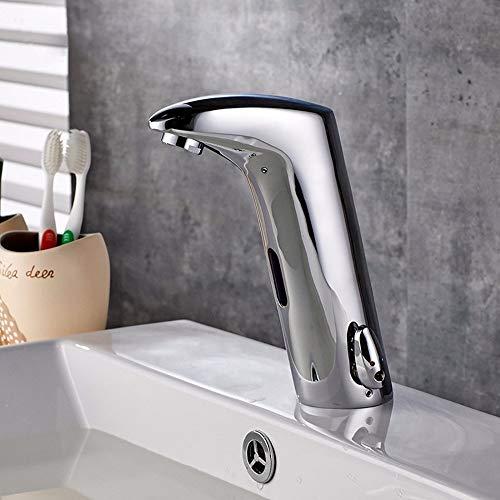 DFQX Sensor Wasserhahn, automatischer Wasserhahn, mit Bewegungssensor, für Badezimmer, Waschbecken, Kaltwasser -