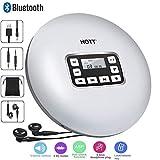 CFZC Tragbarer Bluetooth-CD-Player mit LED-Anzeige,persönliche CD-Musik-Disc-Player für Kinder Studenten Erwachsene Bluetooth Walkman-CD-Player