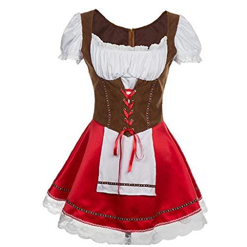 1set Oktoberfest Uniform Oktoberfest Damen Abendkleid Deutsch Bayerische Beergirl Frauen Kostüm (L)