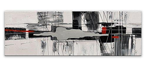 Arte Dal Mondo AS423X1 Wandverzierung Abstrakt Acryl Gemälde auf Leinwand von Hand Dekoriert, bunt, 50 x 150 x 3.5 cm