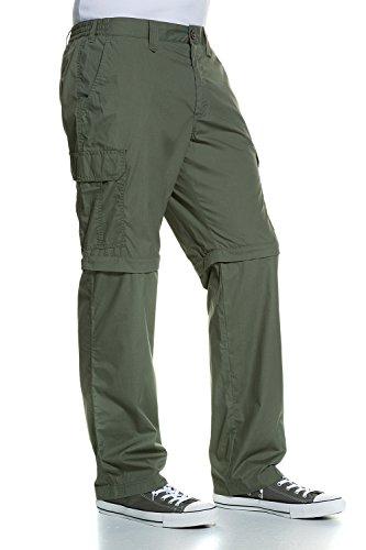 JP 1880 Herren große Größen bis 58 | Cargo-Hose & Bermuda| Funktions-Kleidung 2 in 1 | 6-Pocket-Schnitt | Zipp Off | Schnelltrocknend | khaki 27 691575 44-27 (2-pocket-hose)
