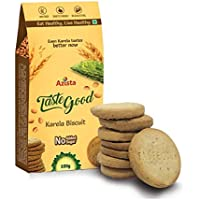 Taste Good Karela Biscuits High Fiber, Tasty and Healthy Sugar-Free Snacks, 400 g - Pack of 4