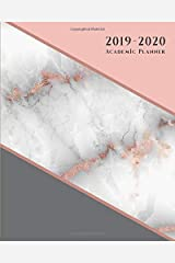 Academic Planner: Weekly and Monthly | Agenda Organizer Diary Calendar | HORIZONTAL Layout - Rose Gold Pink Marble (2019-2020) Paperback