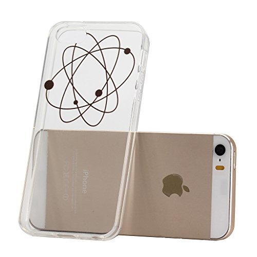 ZXLZKQ pour iPhone 5C Etui Transparent Casque à écouteurs Fleur Soft TPU Case Silicone bumper Housse Coque pour Apple iPhone 5C (non applicable iPhone 5 5S SE) WM24