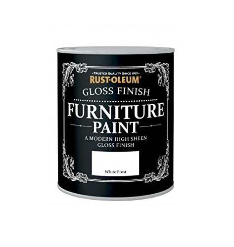 Rust-Oleum Gloss Finish Furniture Paint White Frost 750ml by Rustoleum -