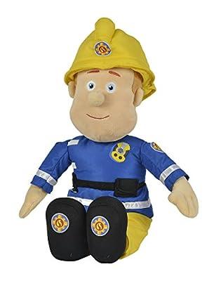 Simba 109252112 - Feuerwehrmann Sam Plüschfigur mit Helm 45 cm