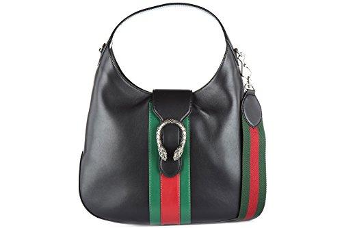 Gucci-womens-leather-shoulder-bag-original-doinysus-black