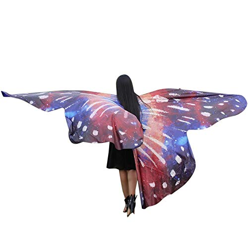 VRTUR Frauen Ägypten Bauch Flügel Tanzen Kostüm Schmetterling Flügel Tanzen Zubehör Nein Sticks Schal