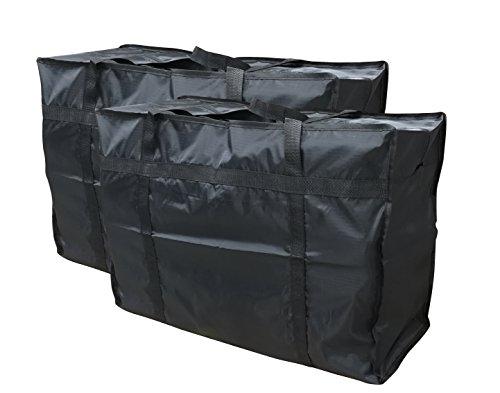 EVST - Bolsa de almacenamiento para la ropa, funda de edredón y juego de cama, almacenamiento de juguetes, con cremallera, 2unidades