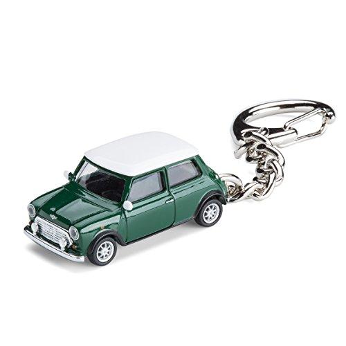 Preisvergleich Produktbild Schlüsselanhänger Mini Cooper British Racing Green - limitierte Auflage - Schuco Modellauto 3, 6 cm lang - Metall / Kunststoff