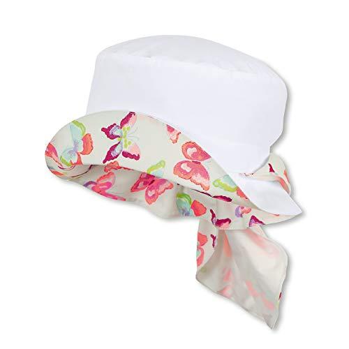 Sterntaler Hut für Mädchen mit Nackenschutz, Alter: 18-24 Monate, Größe: 51, Weiß Mädchen Hut