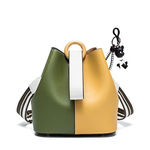 DEERWORD Damen Umhängetaschen Handtaschen Totes Henkeltaschen Schultertaschen Leder Orange Gelb -