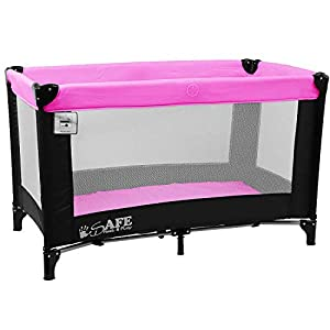 iSafe Rest & Play Luxury Baby Travel Cot Playpen - Purple 120 cm x 60 cm   1