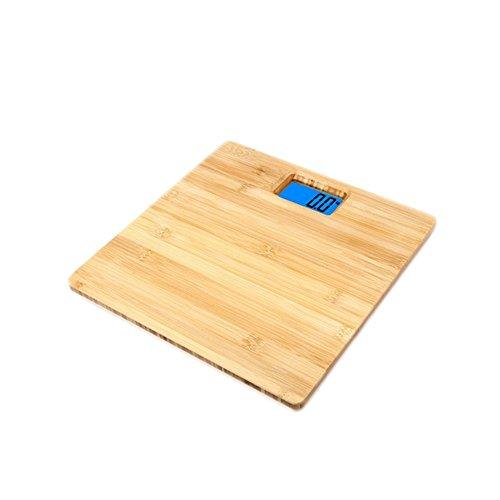 Jthkx bambù cucina bilancia da forno bilancia led precisione home bilance elettroniche bilancia pesapersone, 3.4cm 30 * 30 *