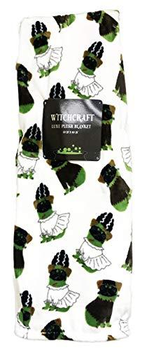 Witchcraft Weihnachtliches Halloween-Thema, Dekorative Luxus-Plüsch-Überwurf, 127 x 152 cm 50