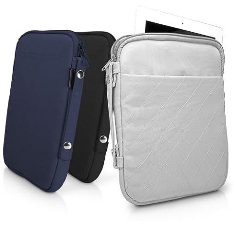 BoxWave Étui matelassé Sac de transport pour iPad (3ème génération), coutures en nylon durable/étui housse de transport rembourré pour le nouvel iPad 3–Housses et étuis (Bleu marine)
