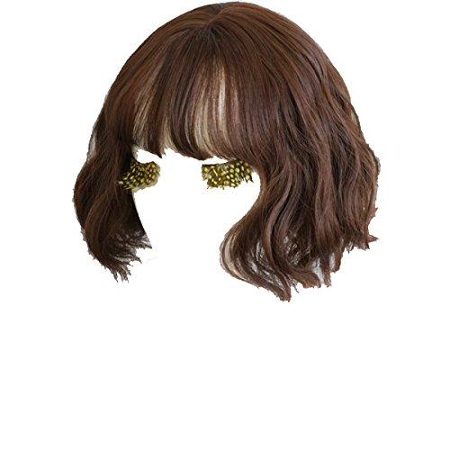Snifgoij Perücke Weiblich Kurzes Haar Flauschiges Gesicht Lebensechte Natur Korea Kurze Lockige Großmutter Graues Licht Nicht Haken Haar Sexy (Perücke Lockige Graue)