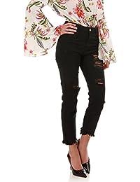 La Modeuse Jeans coupe mom taille haute