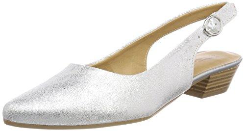 Tamaris Damen 29400 Slingback Sandalen, Silber (Silver Metall.), 36 EU