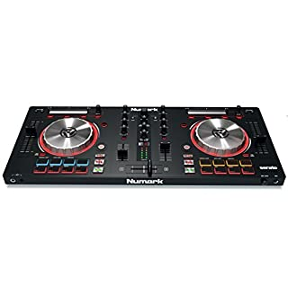 Numark Mixtrack Pro 3 | All-In-One 2-Deck DJ Controller for Serato DJ Including an On-board Audio Interface, 5-Inch High Resolution Jog Wheels and Serato DJ Lite and Prime Loops Remix Tool Kit