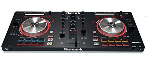 Numark Mixtrack Pro 3 - All-in-One Two-Deck DJ Controller for Serato DJ Including an On-Board Audio Interface, 5-Inch High Resolution Jog Wheels and Serato DJ Intro and Prime Loops Remix Tool Kit