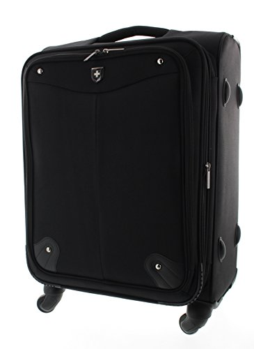 Trolley Swissbrand valigia bagaglio borsa da viaggio nera (L)