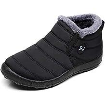 Zapatos Mujer Botas de Nieve Invierno Forro Calentar Tobillo Al Aire Libre Zapatillas Altas Outdoor Antideslizante