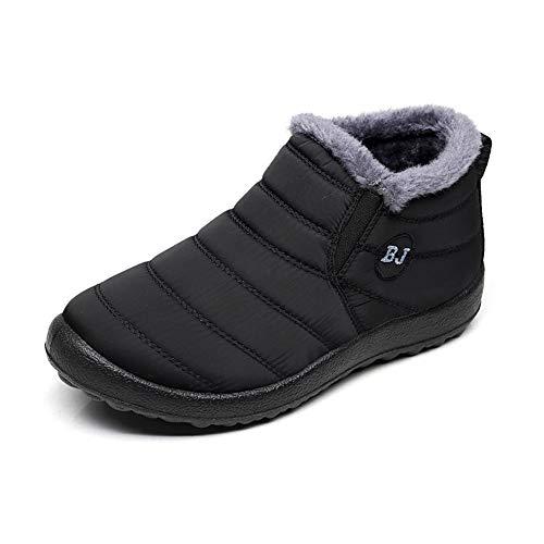 Zapatos Mujer Botas de Nieve Invierno Forro Calentar Tobillo Al Aire Libre  Zapatillas Altas Outdoor Antideslizante Sneakers Negro Azul Rojo 35-43 df6b371e6ca6