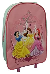 Disney Princess Heart Of A Wheeled Bag Zipped Picture Of 3 Princesss Pinkblue by Trade Mark Collections