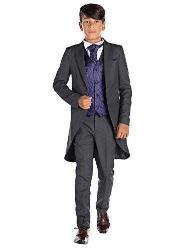 Paisley of London, grau Kostüm Jungen Stinkefinger, Jungen Kostüm zu Schwanz, Jungen Morning Kombinationen, 12–18Monate–13Jahre, Dunkelviolett, 5 Jahre