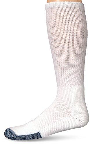 Thorlos Herren und Damen Basketball Über dem Kalb Socken Packung mit 1 Weiß 47-49 -