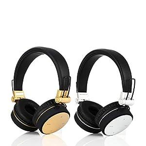Bluetooth 5.0 Wireless Headset, Faltbarer Stereo Gaming Kopfhörer mit Mikrofon für Ipad Handy Laptop Kopfhörer Handfree…