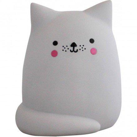 Lampe chat gris pour chambre d'enfants - House of Disaster - EURCAT