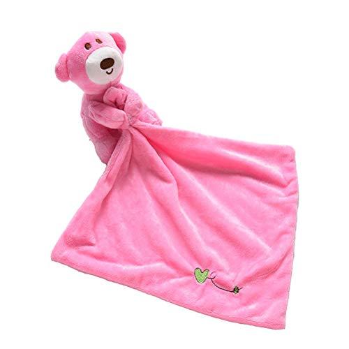 ENCOCO Unisex Baby Sicherheit Decke Kid Weichem Plüsch Bär Tuch Kinderkrankheiten Plüschtier Puppe für Kleinkind, 24 cm, 2 Pack (American Girl Puppe Eule)