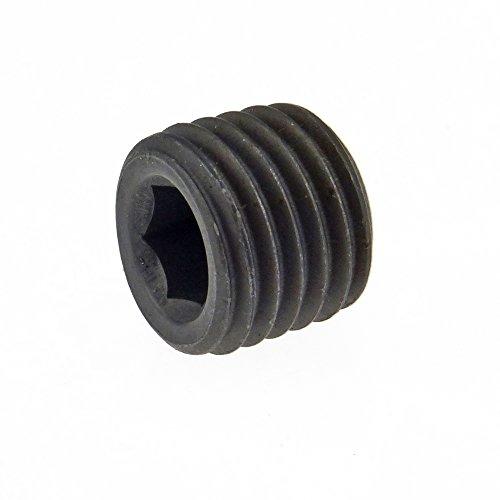 Stahl Keg (Verschlußschraube DIN 906 Stahl bl. Innen6kant und keg.-Feingew. M 18 x 1,5 - 25 Stück)