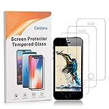 Cardana | 3X bruchsicheres Panzerglas für Apple iPhone 5 / 5S / SE | Schutzfolie aus 9H Echt Glas