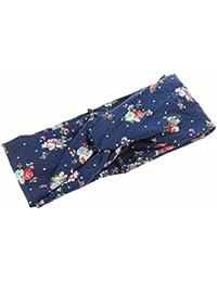 Vovotrade Giro de la moda de las mujeres impresa flor de primavera pelo de la venda de la venda del turbante