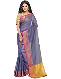 Sarvagny Clothing Art Silk Blue Color Daily Wear Party Wear Saree With Blouse Piece