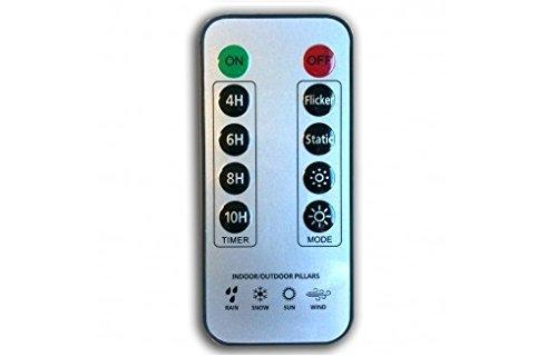 Liown - Vela de cera con luz led (mando a distancia, funciona con pilas), beige, talla M, L, XL