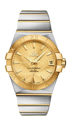 Omega Constellation Automatic Steel & 18k Gold Mens Watch Gold Dial...
