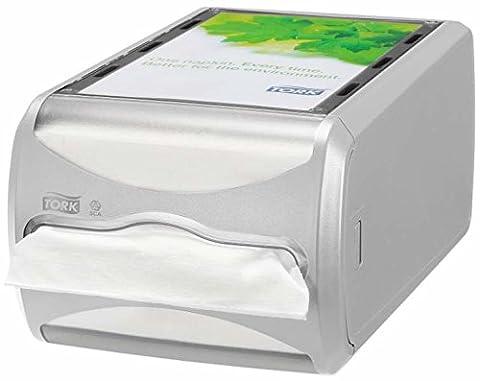 Tork 272513 Xpressnap Counter Napkin Dispenser N4 / Paper Dispenser Suitable for N4 Interfold Napkin Refills / Signature Design / Light Grey