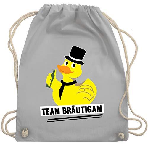 JGA Junggesellenabschied - JGA Team Bräutigam Ente - Unisize - Hellgrau - WM110 - Turnbeutel & Gym Bag (Ente Donald Kostüm)