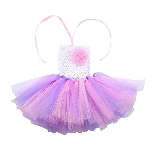 Amphia - Baby Karneval Tutu - Hohe Qualität Baby Mädchen Kinder Floral Tutu Rainbow Dance Phantasie Party ()