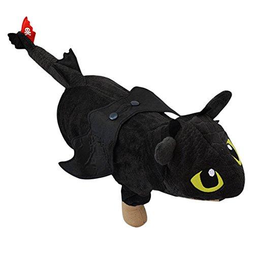 Boodtag Weihnachten Haustier Hund Jumpsuit Overall Drache Kostüm Cosplay Kleidung Outfit Halloween (XS, Schwarz)