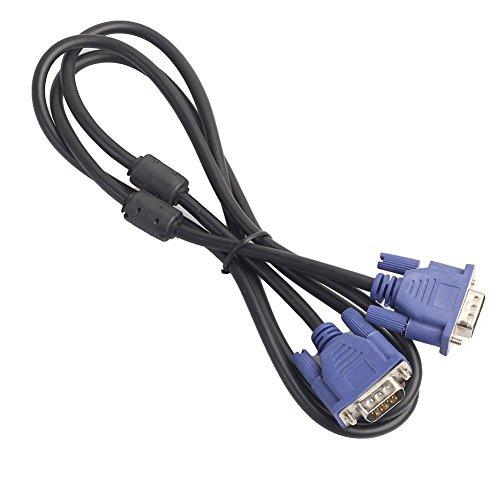 Cikuso HD VGA Kabel 15 Pin Stecker auf VGA Stecker SVGA Verlaengerungskabel Fuer Laptop PC LCD Projektor Monitor 1.5M - Pc-lcd-monitor-kabel