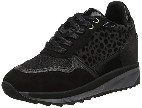 XTI 49308, Zapatillas Altas Mujer, Negro Negro Negro