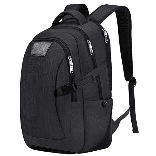 Holife Business Laptop Rucksack, Großraum-Computerrucksack mit Wasserdichter Hülle, Business Daypack für Männer und Frauen, Passend für 17-Zoll-Laptop und Notebook - Schwarz