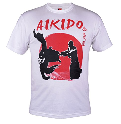 Aikido T-shirt.Harmony. Energy. Way. Street Fightwear. Gym. Training. MMA T-shirt
