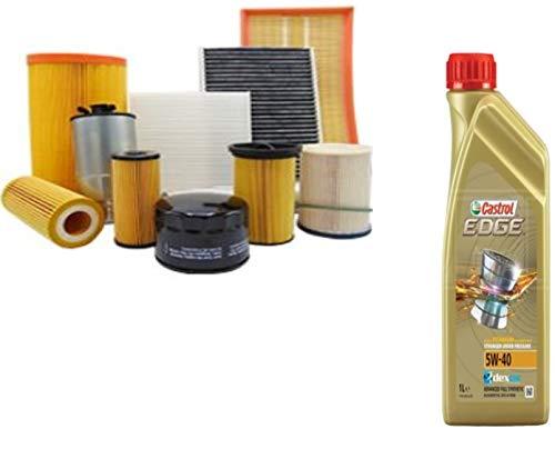 Kit tagliando olio CASTROL EDGE 5W40 5LT 4 FILTRI BOSCH BKD (1457429192; 1987429404; 1457070007 OPPURE 1457070013; 1457432397)